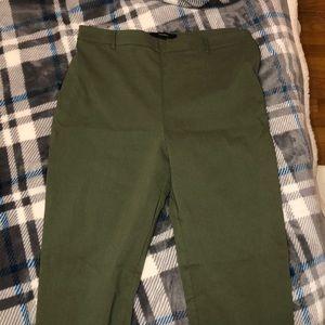 Green high waist leggings
